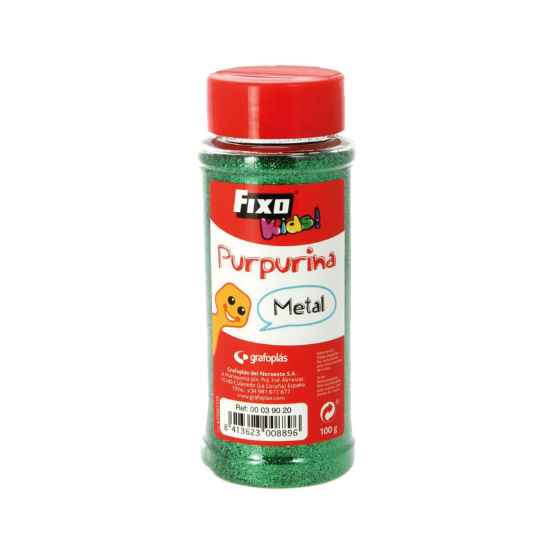 PURPURINA FIXOKIDS EFECTO METAL 100gr